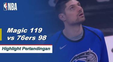 Orlando mengalahkan Philadelphia 119-98 di belakang 28 poin dan 11 rebound dari Nikola Vucevic.