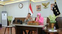 Kapolri Jenderal Polisi Idham Azis bersama Ketua Umum Bhayangkari Ny. Fitri Idham Azis. (Istimewa)