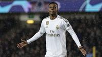 5. Rodrygo (Real Madrid) - Real Madrid menebus Rodrygo Goes dari Santos pada 15 Juni 2018. Madrid mengucurkan dana hingga 40 juta poundsterling untuk meminang Rodrygo yang saat itu berusia 17 tahun. (AFP/Kenzo Tribouillard)