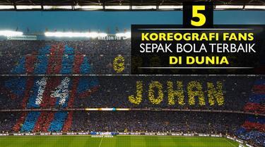 Video 5 aksi koreografi suporter sepak bola terbaik di dunia, Barcelona urutan ke-2 versi HJR.