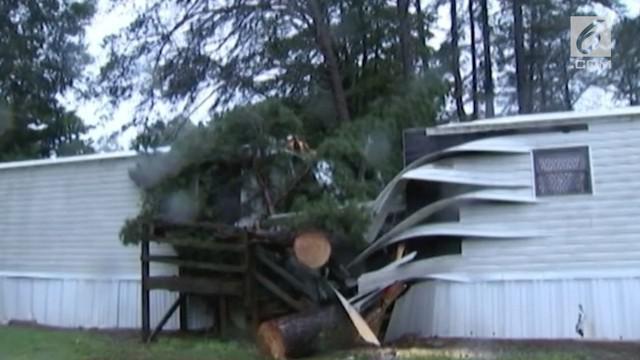 Badai Florence terus memakan korban. Kali ini seorang bayi berusia tiga bulan tewas karena tertimpa pohon tumbang.