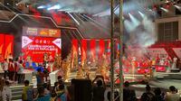 Pembukaan pertandingan ekshibisi dari cabang olahraga esports pada PON XX Papua 2021 (Liputan6.com/Yuslianson)
