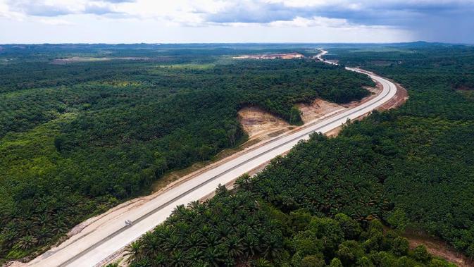 Tol Balikpapan-Samarinda memiliki total panjang 99,350 km dan terdiri dari lima seksi jalan tol. (Dok. Jasa Marga)