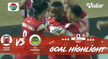 Berita video momen gol kemenangan Madura United atas Tira Persikabo dalam lanjutan Shopee Liga 1 2019 yang dicetak Greg Nwokolo, Rabu (30/10/2019).