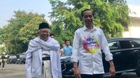 Bakal pasangan capres dan cawapres Joko Widodo (Jokowi) dan Ma'ruf Amin menjalani tes kesehatan di RSPAD, Jakarta (Liputan6.com/ Yunizafira Putri)