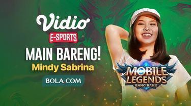 Berita video jangan lewatkan kesempatan untuk main bareng (mabar) Mobile Legends: Bang Bang bersama e-sports influencer, Mindy Sabrina, yang berhadiah voucher Vidio Premium, pada Kamis (22/4/2020).