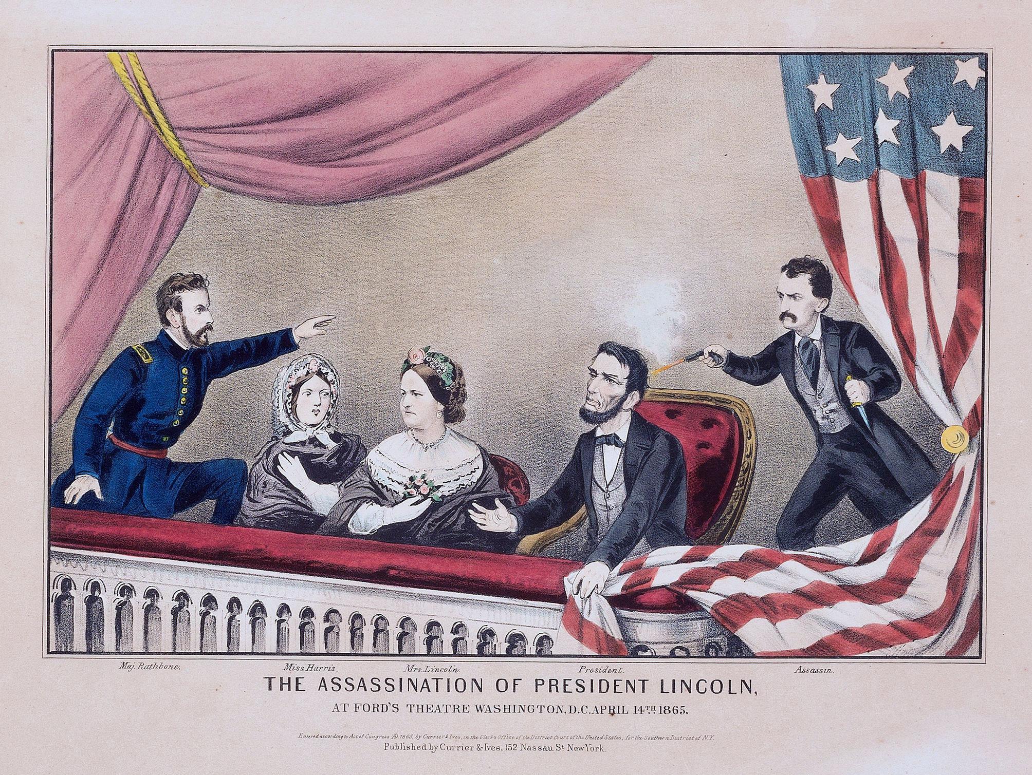 Ilustrasi Pembunuhan Abraham Lincoln. (Wikimedia/Public Domain)