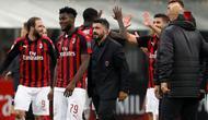 Pelatih AC Milan, Gennaro Gattuso. (AP Photo/Antonio Calanni)