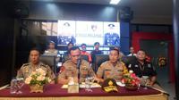 Polresta Palembang menetapkan OB sebagai tersangka penganiayaan siswa saat MOS di SMA Taruna Indonesia Palembang (Liputan6.com / Nefri Inge)