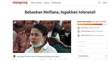 20 Ribu Orang Tandatangani Petisi Pembebasan Meiliana