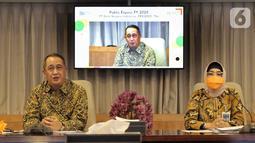 Pada Public Expose 2020, PT Bank Negara Indonesia (Persero) terus beradaptasi pada masa pemulihan dari Pandemi Covid-19 di triwulan terakhir tahun 2020 dengan fokus pada penguatan fundamental perseroan. (Liputan6.com/Pool)