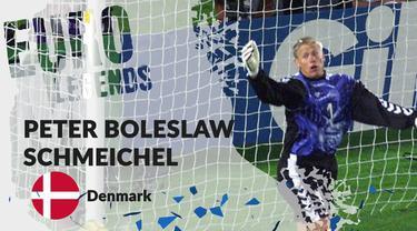 Berita motion grafis profil legenda Peter Schmeichel, pahlawan Denmark di Piala Eropa 1992.
