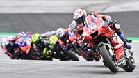 Pembalap Ducati, Andrea Dovizioso pada balapan MotoGP Styria. (Joe Klamar / AFP)