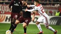 AC Milan kalah dari Olympiakos dengan skor 1-3. (AFP/Aris Messinis)