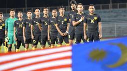 Timnas Malaysia menempati peringkat ke-13 pada daftar rangking AFC 2018, Malaysia meraih poin sebanyak 29.566. (AFP/Ted Aljibe)