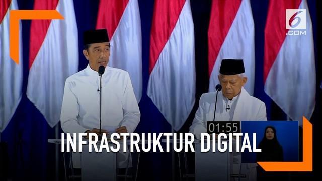 Pemerintah Jokowi gencar membangun infrastruktur digital dengan perkembangan ekonomi di Indonesia.