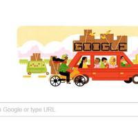 Ikut ramaikan mudik 2017, mesin penelusur Google bikin doodle unik. (Sumber foto: google.com)