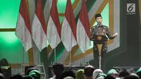 Presiden Joko WIdodo memberikan sambutan ketika menghadiri Harlah ke-46 PPP di kawasan Ancol, Jakarta, Kamis (28/2). harlah ke-46 PPP mengusung tema 'Membangun Keluarga Membangun Bangsa'. (Liputan6.com/Faizal Fanani)