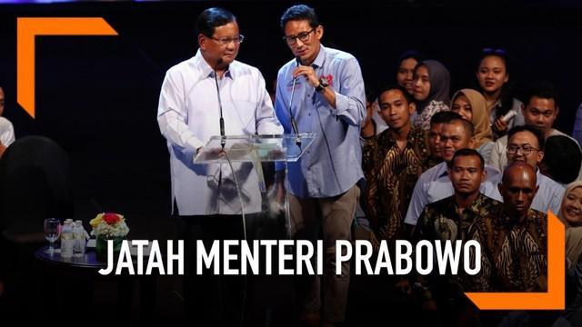 Direktur Komunikasi dan Media Badan Pemenangan Nasional Prabowo-Sandi, Hashim Djojohadikusumo mengaku telah membahas nama nama calon menteri bersama calon presiden Prabowo Subianto.