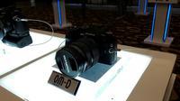Kamera Olympus OM-D E-M1 Mark II resmi diluncurkan di Indonesia pada Kamis (1/12/2016). (Liputan6.com/Agustinus Mario Damar)
