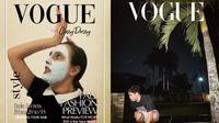 Netizen ikut ramaikan Vogue Challenge, tapi hasilnya justru kocak. (Sumber: Instagram/@nereisius/@elnandautomo)