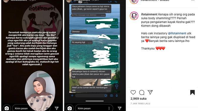 Kesha Ratuliu Sampaikan Pesan untuk Teman Ibunya yang Lakukan Body Shaming
