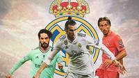 Real Madrid - Isco, Gareth Bale, Luka Modric (Bola.com/Adreanus Titus)