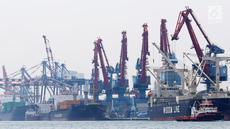 Suasana bongkar muat di Pelabuhan Indonesia II, Tanjung Priok, Jakarta, Kamis (24/1). Pemerintah memprediksi pertumbuhan impor tahun ini tidak akan seagresif tahun lalu. (Liputan6.com/Angga Yuniar)
