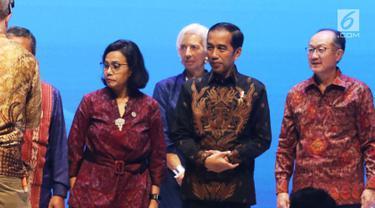 Jokowi Bicara Perkembangan Fintech di IMF-Bank Dunia 2018