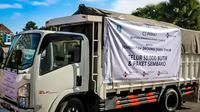 50.000 telur dan 1.000 paket sembako kepada Pemerintah Provinsi Jawa Timur