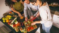 Ilustrasi menu vegetarian (iStockphoto)