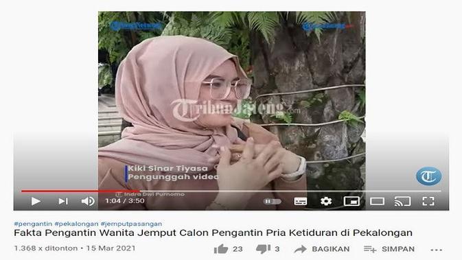 Gambar Tangkapan Layar Video dari Channel YouTube Tribun Jateng