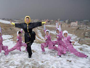 20170129-Sima Azimi, Pelatih Wushu Cantik dari Afghanistan-Kabul