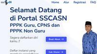 Pendaftaran Seleksi CPNS 2021 dilakukan melalui portal SSCASN. Dok SCCASN