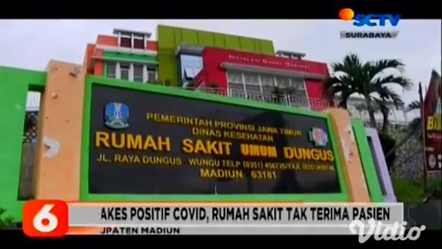 Sejak Sabtu (03/7), ruang isolasi di RSU Dungus, Madiun, Jawa Timur, sudah penuh. Terkait perihal tersebut, dari pihak rumah sakit memanfaatkan tenda darurat dari BNPB untuk merawat 11 pasien Covid-19.