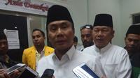 Ketua DPD Partai Hanura Sumsel Mularis Djahri dipecat dari jabatannya oleh DPP Partai Hanura (Liputan6.com / Nefri Inge)