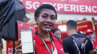 Telkomsel menghadirkan pengalaman 5G di PON XX Papua 2021. (Foto: Corpcom Telkomsel).