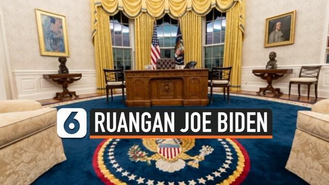 Kantor Oval, sebutan bagi ruang kerja Presiden Amerika Serikat, kerap mendapat perubahan setiap kali presiden baru pindah ke Gedung Putih. Tak terkecuali Joe Biden yang mendekor ulang ruangan kerja mantan Presiden Donald Trump tersebut.