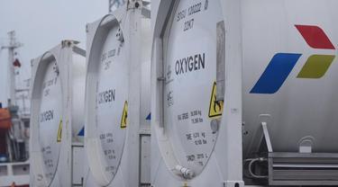 Oksigen sebanyak 1.335 ton tersebut disalurkan melalui 31 unit Truk ISO Tank dalam 67 ritase.
