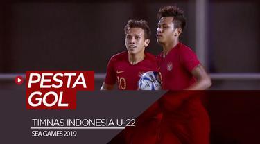 Berita video highlights Grup B cabang sepak bola putra SEA Games 2019 antara Timnas Indonesia U-22 melawan Brunei Darussalam yang berakhir dengan skor 8-0, Selasa (3/12/2019).