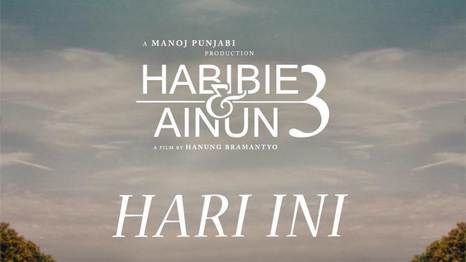 Poster Film Habibie & Ainun 3. (instagram.com/mdpictures_official)