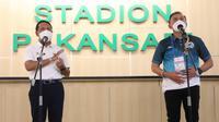 Menteri Pemuda dan Olahraga, Zainudin Amali, takjub dengan penerapan protokol kesehatan ketat di BRI Liga 1 2021/2022. (dok. PSSI)