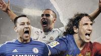 John Terry, Fabio Cannavaro dan Carles Puyol. (Bola.com/Dody Iryawan)