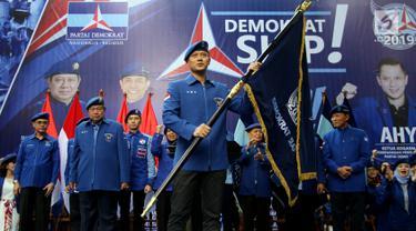Pake Seragam Demokrat, SBY Kukuhkan Agus Yudhoyono sebegai Kogasma