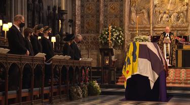 Proses kebaktian pemakaman Pangeran Philip di Windsor.