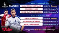 Jadwal Playoff Liga Champions 2020/2021 di Vidio. (Sumber: Vidio)