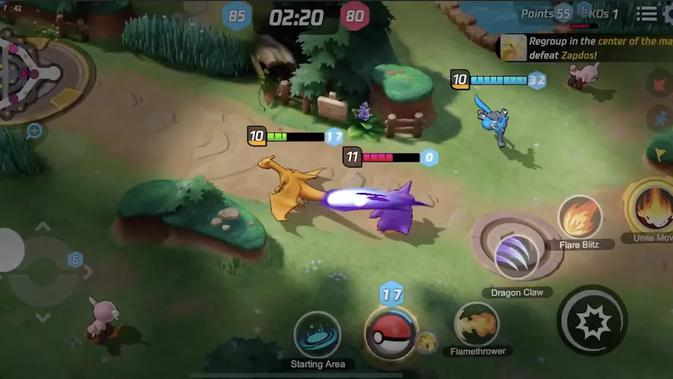Pokemon Unite. (Doc: Pokemon Company)