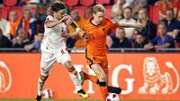 Timnas Belanda menang 4-0 atas Montenegro pada laga kelima Grup G kualifikasi Piala Dunia 2022 di Philips Stadion, Minggu (5/9/2021) dini hari WIB. (MAURICE VAN STEEN/ANP/AFP)