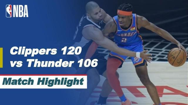 Berita Video Highlights NBA, LA Cilppers Kalahkan Oklahoma City Thunder (23/1/2021)