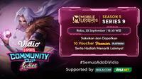 Jadwal dan Live Streaming Vidio Community Cup Ladies Season 5 PUBGM Series 9 di Vidio, Rabu 29 September 2021. (Sumber : dok. vidio.com)